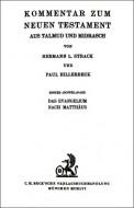 Kommentar zum Neuen Testament - Billerbeck P., Strack H.